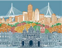 Boston Massachusetts  Cityscape Towel
