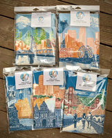 Portland, Oregon Cityscape Towel – Watching Over Portland – Tea Towel