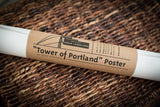 ON SALE!! - Tower of Portland Poster - Portland Oregon Icon Photomontage