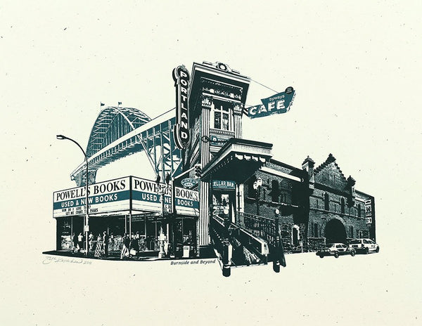 Portland Art Print -- Burnside & Beyond -- 8.5x11 and 11x14