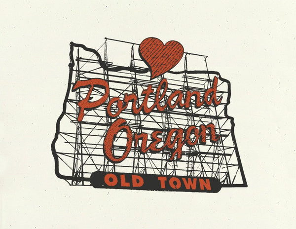 Portland Art Print -- In the Heart of Portland -- 8.5x11 & 11x14
