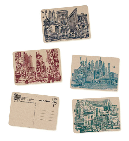 ON SALE!! -- Icons of NYC & Brooklyn, New York Postcards - Set of 8 Cards