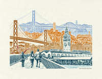 San Fransisco Art Print -- San Fransisco Bay View - 8.5x11, 11x14, and 16x20 Poster