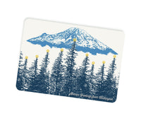 Washington State Holiday Themed Postcards -- Mt. Rainier Star Lit Forest -- Single or Set