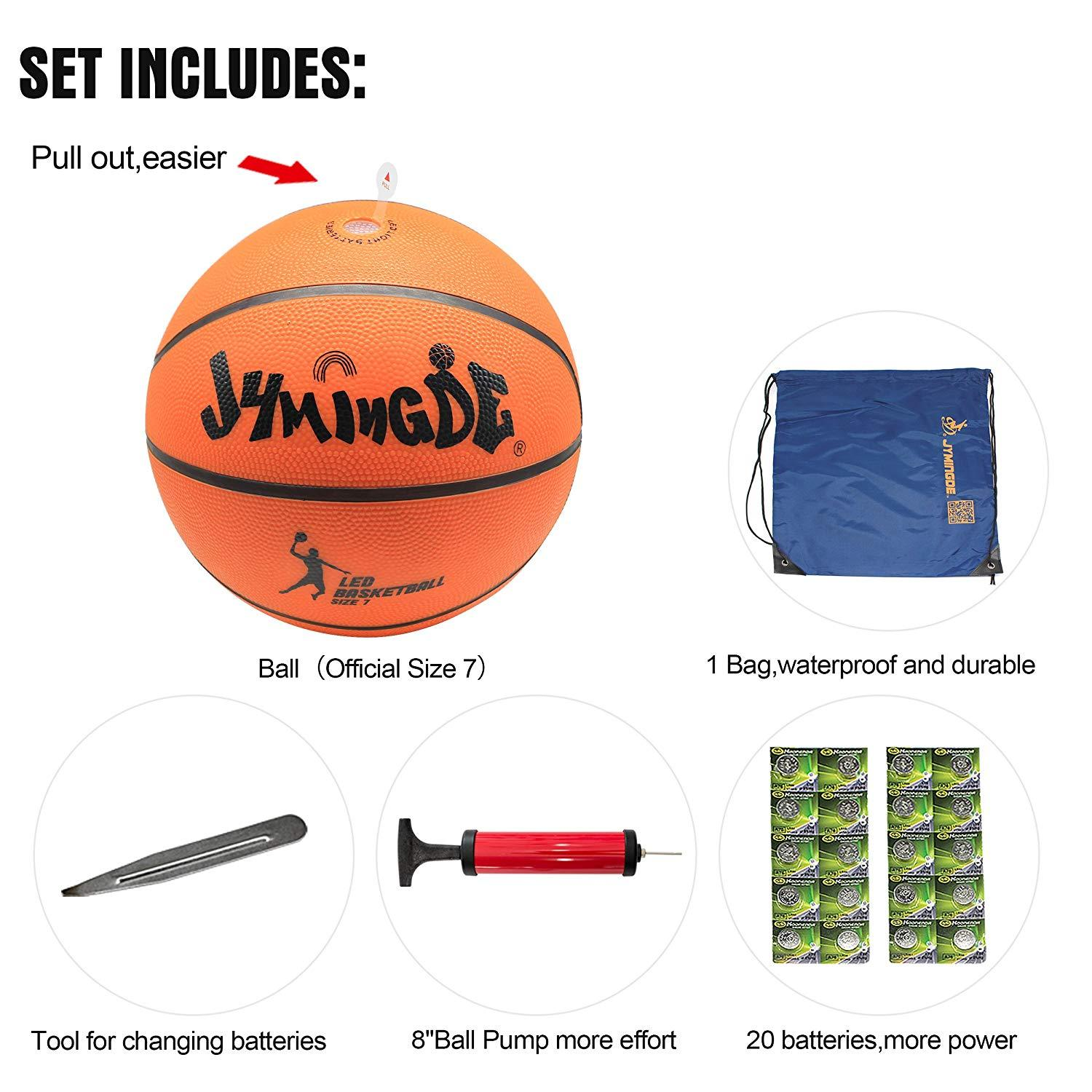 Complete set of LED basketball from Woosir