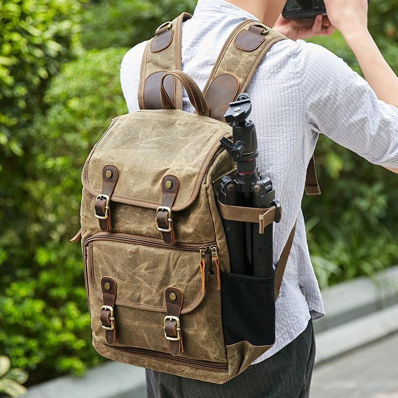 waxed-canvas-photography-bag-camera-slr-shoulder-photography-backpack-waterproof