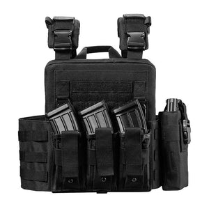 Tactical Vest For Men Military Plate Carrier - Black - Tactical Vest - Woosir