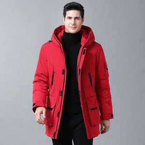 Woosir Down Jacket With Hood Long Coat Men -  - Down Jacket - Woosir