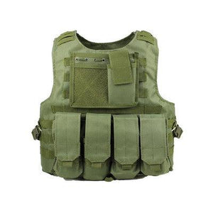 Combat Training Vest Molle Pouch - Green - Tactical Vest - Woosir
