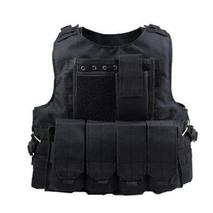 Combat Training Vest Molle Pouch - Black - Tactical Vest - Woosir
