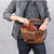 Leather Sling Bag Waist Pack Shoulder Backpack -  - Chest Bag - Woosir