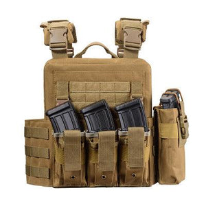 Tactical Vest For Men Military Plate Carrier - Khaki - Tactical Vest - Woosir