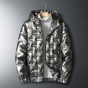Woosir Coats Mens Winter Jackets Down - Silver B / M - Down Jacket - Woosir