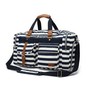 Weekend Duffle Bag Travel Bags For Women - Blue - Cotton Canvas Duffle Bags - Woosir
