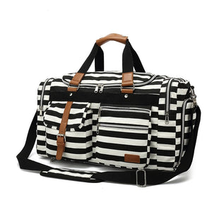 Weekend Duffle Bag Travel Bags For Women - Black - Cotton Canvas Duffle Bags - Woosir