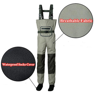 3 Layer Waterproof Fishing Waders -  - Fishing Waders - Woosir