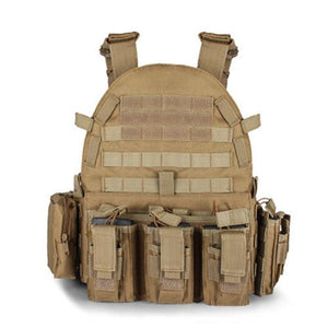 Military Outer Vest Carrier Molle - Khaki - Tactical Vest - Woosir