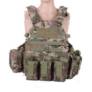 Military Outer Vest Carrier Molle - Camo - Tactical Vest - Woosir