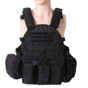Military Outer Vest Carrier Molle - Black - Tactical Vest - Woosir