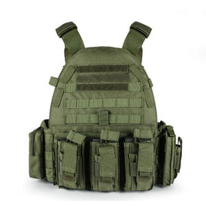 Military Outer Vest Carrier Molle - Green - Tactical Vest - Woosir