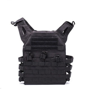Lightweight Tactical Vest Plate Carrier Military - Black - Tactical Vest - Woosir