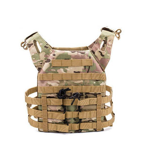 Lightweight Tactical Vest Plate Carrier Military - Camo B - Tactical Vest - Woosir