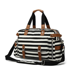 Travel Bags For Women with Trolley Sleeve Design - Black - Duffle Bags - Woosir