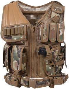 Breathable Fashionable Military Tactical Vest - CP Camo - Tactical Vest - Woosir