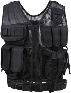Breathable Fashionable Military Tactical Vest - Black - Tactical Vest - Woosir