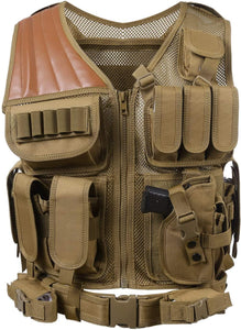 Breathable Fashionable Military Tactical Vest - Khaki - Tactical Vest - Woosir