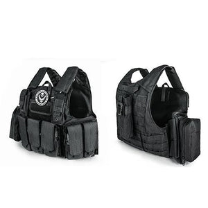 Tactical Vest Molle Combat Plate Carrier - Black - Tactical Vest - Woosir