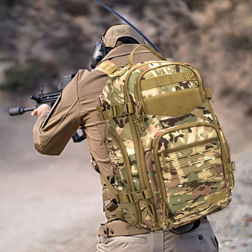 Outdoor 1000D Laser Cutting Molle Camo Tactical Backpack Military Bag