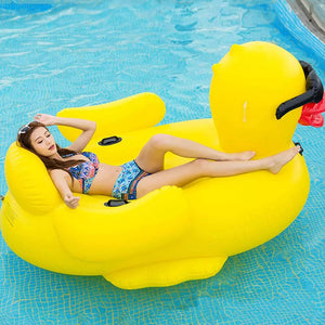 Cute Duck Inflatable Pool Float Lounger -  - Floating Bed - Woosir