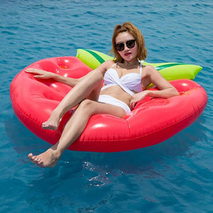Strawberry Inflatable Floating Bed -  - Floating Bed - Woosir