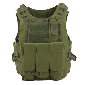 Military Tactical Vest For Men Plate Carrier - Green - Tactical Vest - Woosir