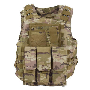 Military Tactical Vest For Men Plate Carrier - Camo B - Tactical Vest - Woosir