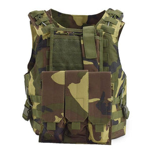 Military Tactical Vest For Men Plate Carrier - Camo A - Tactical Vest - Woosir