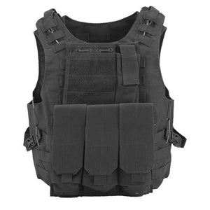 Military Tactical Vest For Men Plate Carrier - Black - Tactical Vest - Woosir
