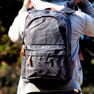 Waxed Canvas Backpack Waterproof Vintage Outdoor Travel -  - Waxed Canvas Backpack - Woosir