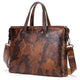 Vintage Luxury Leather Briefcase for Men - browncamouflage - Briefcases - Woosir