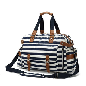Travel Bags For Women with Trolley Sleeve Design - Blue - Duffle Bags - Woosir