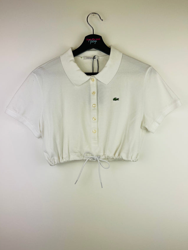 Lacoste Crop Top White