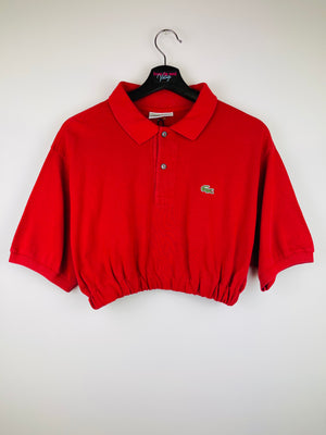 Lacoste Crop Top Red + 2 Scrunchies