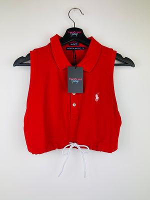 Ralph Lauren Crop Top Red + 2 Scrunchies