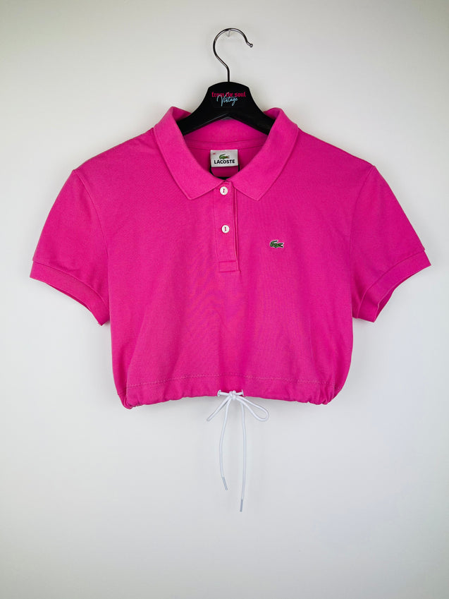 Lacoste Crop Top Pink + 2 Scrunchies