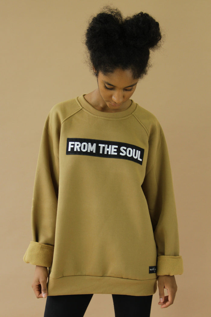 From The Soul Sweatshirt Camel