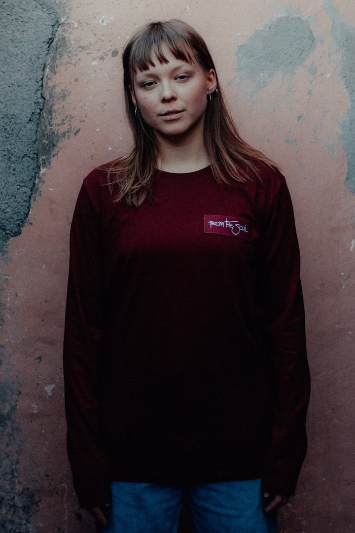 From The Soul Long Sleeve Burgundy I