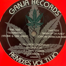 "Load image into Gallery viewer, Ganja Records Remixes Vol 2 ""Tiger Style"" \ ""Mash Up Da Place"" 2 Track 12inch Vinyl"