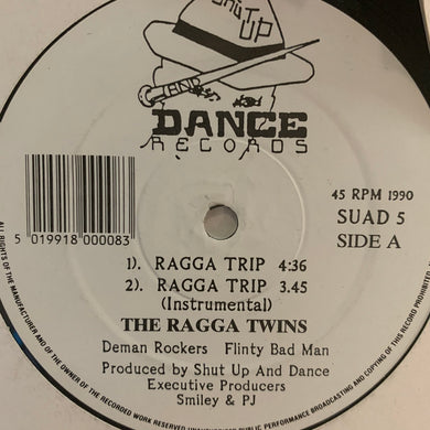 "The Ragga Twins ""Ragga Trip"" / ""Hooligan 69"" 4 Version 12inch Vinyl"