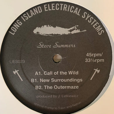 "Steve Summers ""Call Of Wild"" on Long Island Electrical System's L.I.E.S. Records 3 Track 12inch Vinyl"